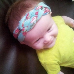The Twisted Knot floral headband